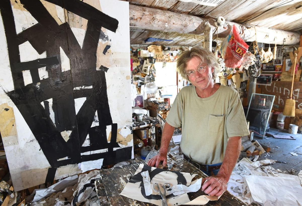 Jerry Iverson in his painting studio